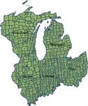 Picture of MapShapes for US: East North Central States