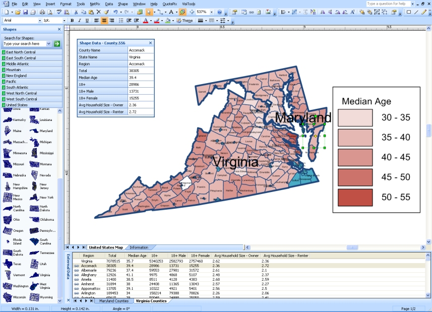visio mapshapes for states and counties in united states free